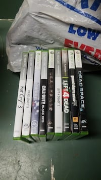 assorted Xbox 360 game cases