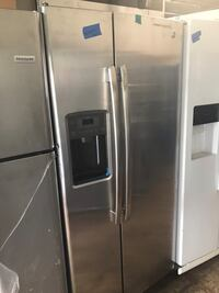 "GE 33"" side by side refrigerator new 6 months warranty"