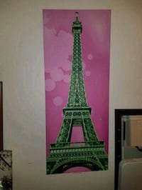 Super cute Eiffel Tower Canvas!