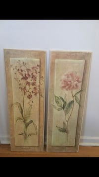 Orchid and Peony flower hanging wall art painting  Adelphi, 20783