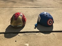Iron Man and Captain America themed bicycle helmets Vienna, 22182