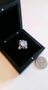 925 silver oval stone ring