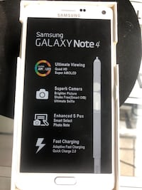 Samsung Galaxy Note 4, 32 GB, White , brand new Toronto, M9V 2X6