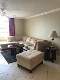 brown and white sectional couch Fort Lauderdale, 33316
