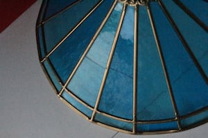 Matching vintage stained glass tiffany lampshades