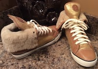 Authentic Tory Burch tan, beige, & white high cut shoes ( new ) Calgary, T2J