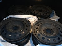 four black bullet hole car wheels Pickering, L1V 1L3