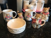 Adorable! Precious! Porcelain Kitty Kitchen Set Collection Gainesville, 20155