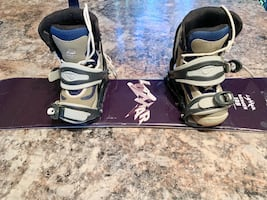 105cm Lamar bender board, binding and size 1 boots
