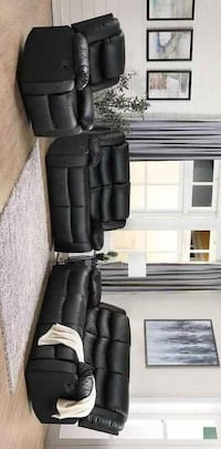 SPECIAL] Dynamo Black 3-Piece Reclining Living Room Set Houston, 77036