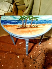 Half circle table,with original beach art Margate, 33063