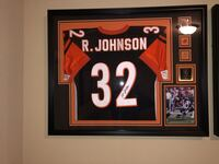 Autographed and Framed Rudi Johnson Jersey. Comes with COA. No low ballers or Trades. Tracy, 95377