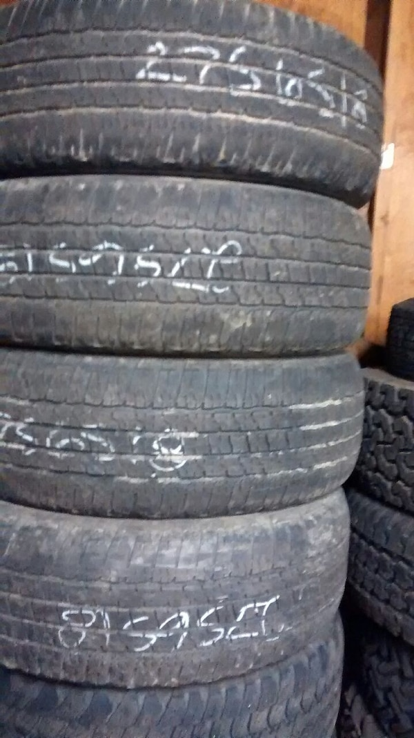 Four 2756518 used tires-installed