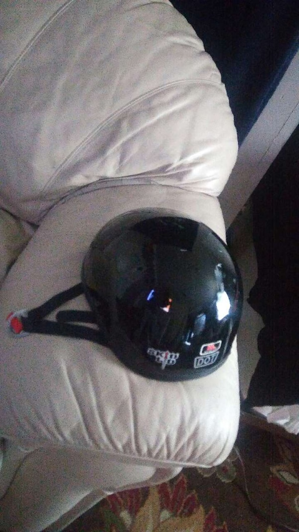 black half face motorcycle helmet