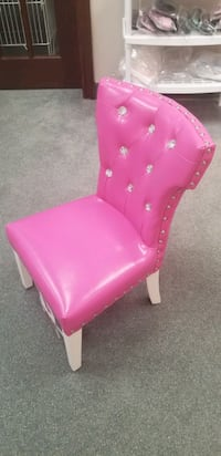 Kids chair with crystal studded replica diamonds princess chair room