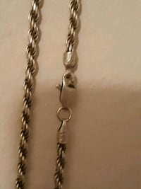 silver chain link necklace with pendant St. Louis, 63101