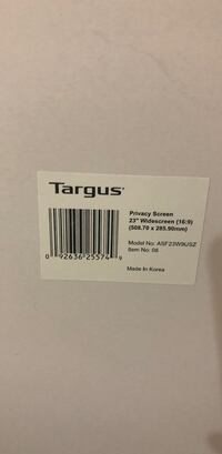 BNIB Targums Privacy Monitor Screen 23 inch widescreen Port Coquitlam, V3B 5C9