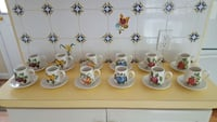 Set of 12 Portmeirion demitasse cups & saucers 41 km