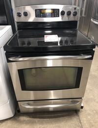 ❥GE Profile Electric Range. Black and Stainless. Used. - Seaford