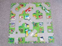 Brand New - 9 pieces Road Map Puzzle Mats Hamilton