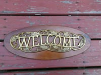 Vintage Home Welcome Plaque Middletown