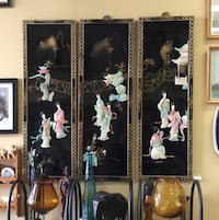 3 Vintage Asian Wall Hanging Screens Home Decor Mississauga, L4W 1R9