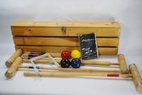 Eddie Bauer Wooden Box Croquet Set Leesburg