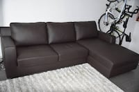 J&M Taylor Leather Sleeper Sectional New York, 10036