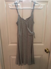 Women's gray spaghetti strap dress