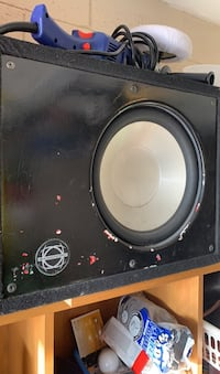 10in infinity subwoofer with box