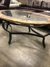 Used marble and glass center table Some scratches on glass