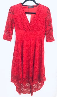 Women's Lace Dress SM 3/4 sleeve