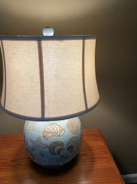 white and blue ceramic table lamp Monroe Township, 08831