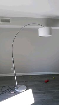 Tall metal overhead lamp