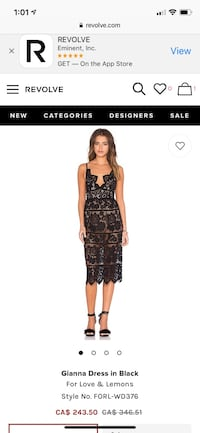 Size small for love and lemons dress . Originally paid over 250. Worn once excellent condition . Has a body suit lining underneath as seen in pictures.