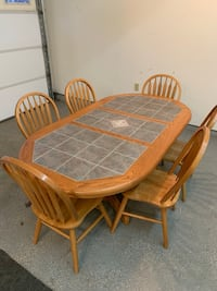 Oak Kitchen table with 6 windsor chairs dining set Gaithersburg, 20882