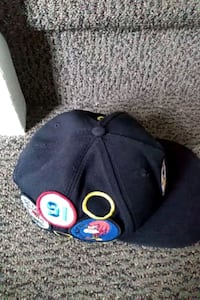 black and blue fitted cap Waterloo, N2L 2G5