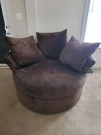 Brown suede sofa chair with throw pillow Bowie, 20720