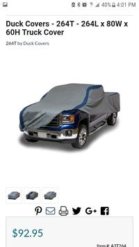 Truck cover made by duck covers Kent, 98032