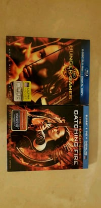 Hunger Games and Catching Fire blu-rays new Houston, 77083