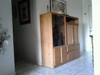 brown wooden cabinet with shelf Bakersfield, 93307