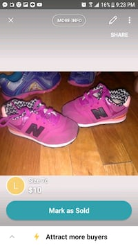 pair of pink-and-white Nike running shoes Brooklyn, 11207