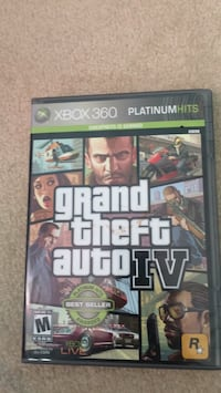 Grand Theft Auto IV Xbox 360 game case Burke, 22015