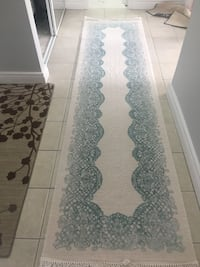 white and black floral runner rug Toronto, M3A 3M3
