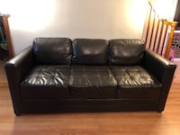 Leather (Faux) Serta Couch Sofa Modern Dark Brown 47 km