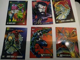 venom Hulk DC comic cards 90s