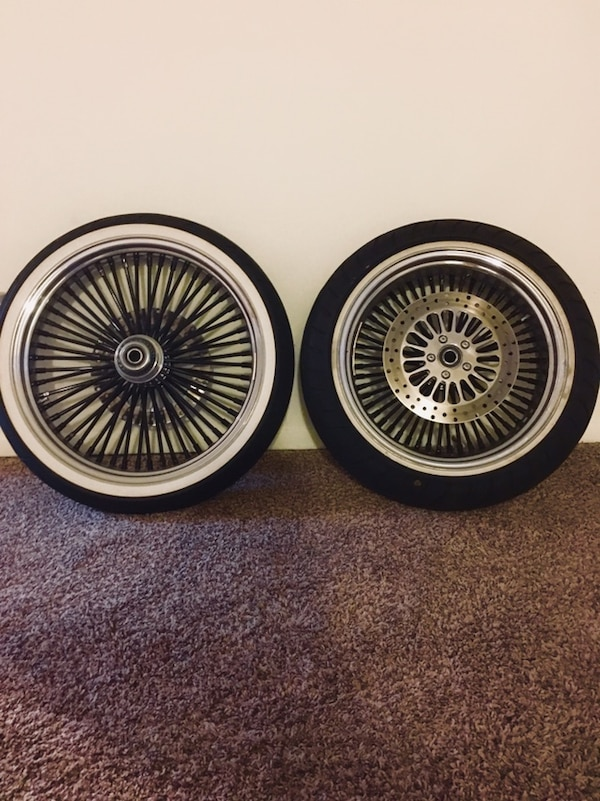 Used Harley Davidson Wheels >> Used 52 Spoke Fat Daddy Wheels Used One Season Like New Fits Most