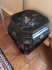 Black Octagon side table for sale Valparaiso