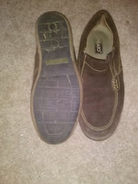 pair of brown suede slip-on shoes Houston, 77074