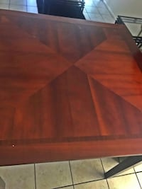 rectangular brown wooden coffee table Ocala